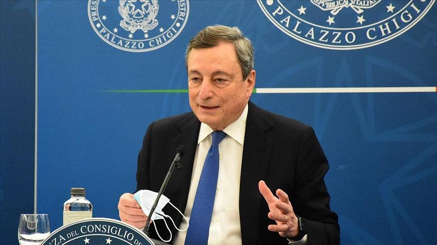 İtalya Başbakanı Draghi, koronavirğs önlemlerinin 26 Nisan'dan itibaren kademeli gevşetileceğini bildirdi. @aa