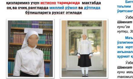Özbekistan'da Okullarda 28 Yıldır Süren Başörtüsü Yasağı Kaldırıldı