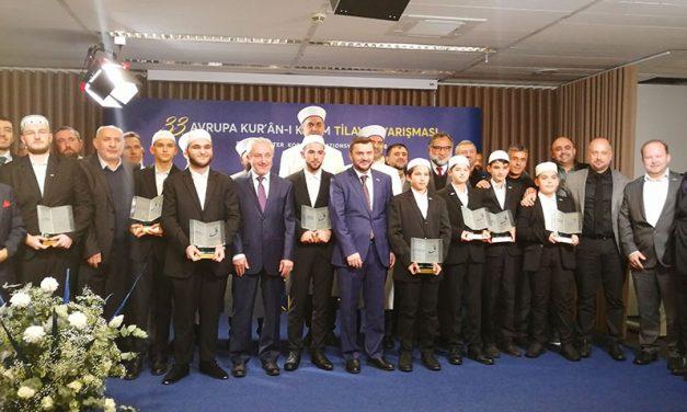 33. Avrupa Kur'ân Yarışması Sonuçlandı: H. İbrahim Soydemir ve M. Enes Kıdık Birinci Oldu